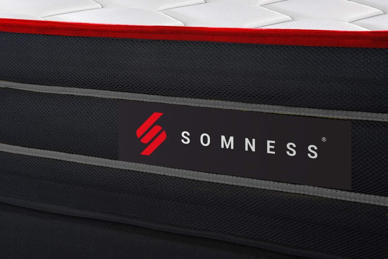 Ensemble Double sommier Matelas Boost Ressorts ensach/és et m/émoire de Forme 160x200