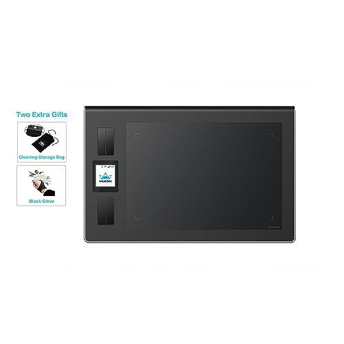 HUION DWH69 5080líneas por Pulgada 228 x 152mm USB Negro Tableta digitalizadora Tableta gráfica Alámbrico 228 x 152 mm USB 1 02 cm Pluma 233 pps