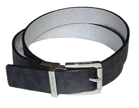 c78d09940e84d Michael Kors Gürtel Damen Wendegürtel  Reversible schwarz 3 cm breit  Silberne Schnalle