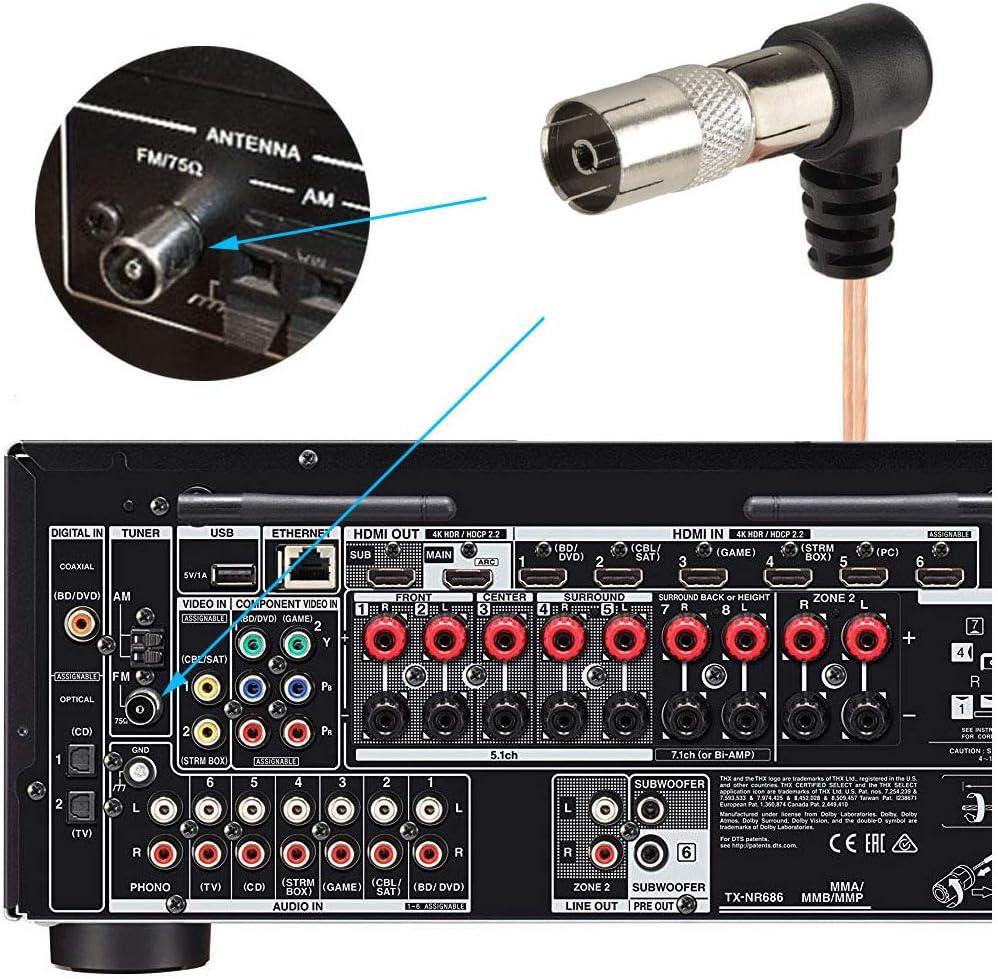 75Ohm UKW Radioantenne Dipols Indoor Heimradio Stereoempfänger Antenne Tools