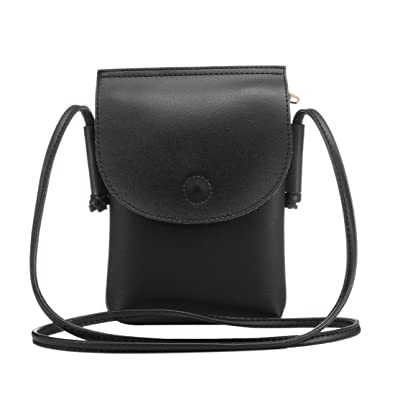Crossbody Wallet Bag Cellphone Purse Pouch Bag Shoulder Crossbody Bag Girls  Mini Sling Pouch Wristlet Wallet 95ca388bf9527