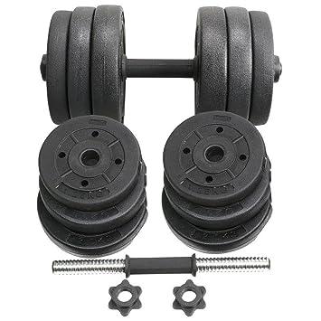 yoleo 4 kg - 20 kg/30kg libre Set de mancuernas de peso de hierro ...