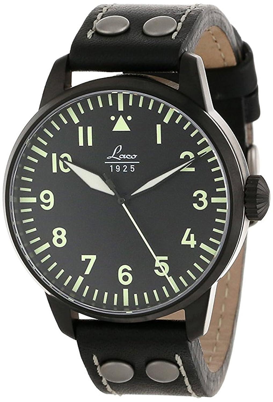 LacoアルテンブルクタイプAダイヤルMiyota automatic watch、ブラックイオンケース861759 B007BF61ZA