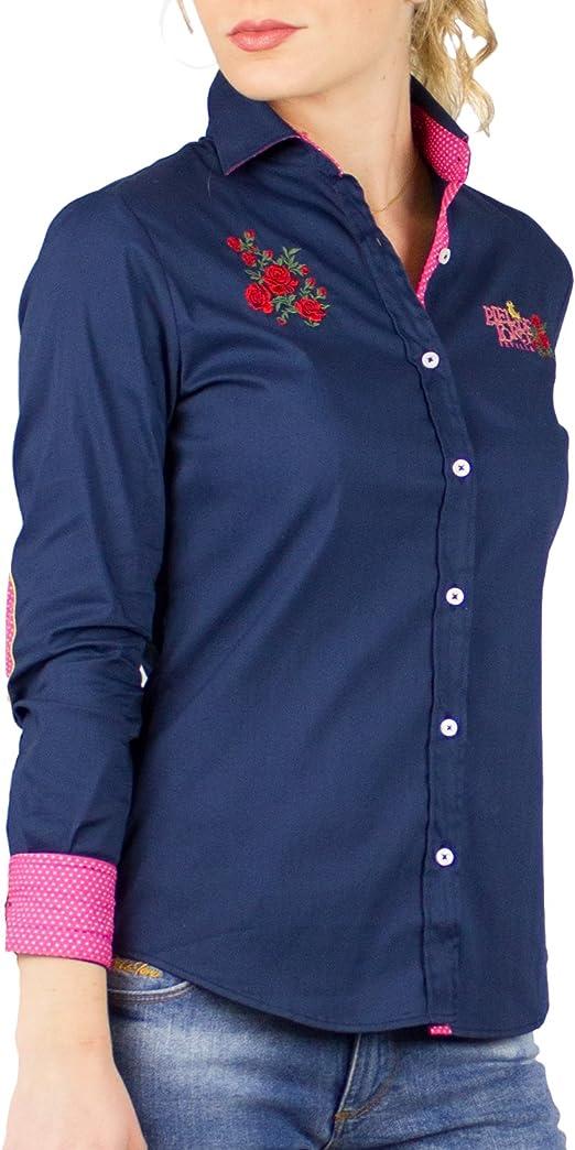 Piel de Toro 42142544 Camisa, Azul (Azul Marino 01), Large (Tamaño del Fabricante:L) para Mujer: Amazon.es: Ropa y accesorios