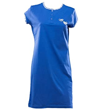 3160cf4e95 Waite Ltd Ladies Jersey Cotton Nightdress Short Sleeved Butterfly Heart  Valentines Nightie (Blue or Raspberry)  Amazon.co.uk  Clothing