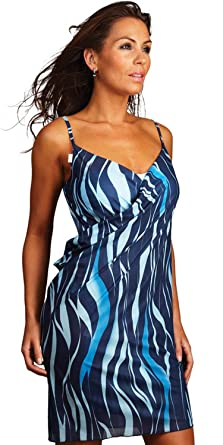 aa0a01bf6b Azure Saress Beach Dress - Cover Up Sarong Dress Top (XX Large Size 20,