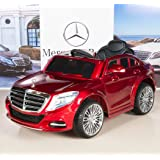 Mercedes-Benz S600 12V Kids Ride On Battery Powered Wheels Car RC Remote Red