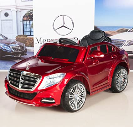Mercedes Power Wheels >> Mercedes Benz S600 12v Kids Ride On Battery Powered Wheels Car Rc Remote Red