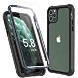Temdan iPhone 11 Pro Case, Full Body Built in Screen Protector Protect Bumper Case Support Wireless Charging, Heavy Duty…
