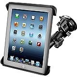 RAM-B-166-TAB3U: RAM Suction Cup Twist Lock Mount with Tab-Tite Cradle for the Apple iPad, iPad 2, HP TouchPad