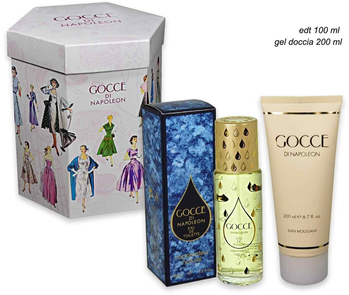 Drops of Napoleon Women Gift Set Eau de Toilette Vaporisateur 100ml + Shower Gel 200ml Gift Set gocce di napoleon