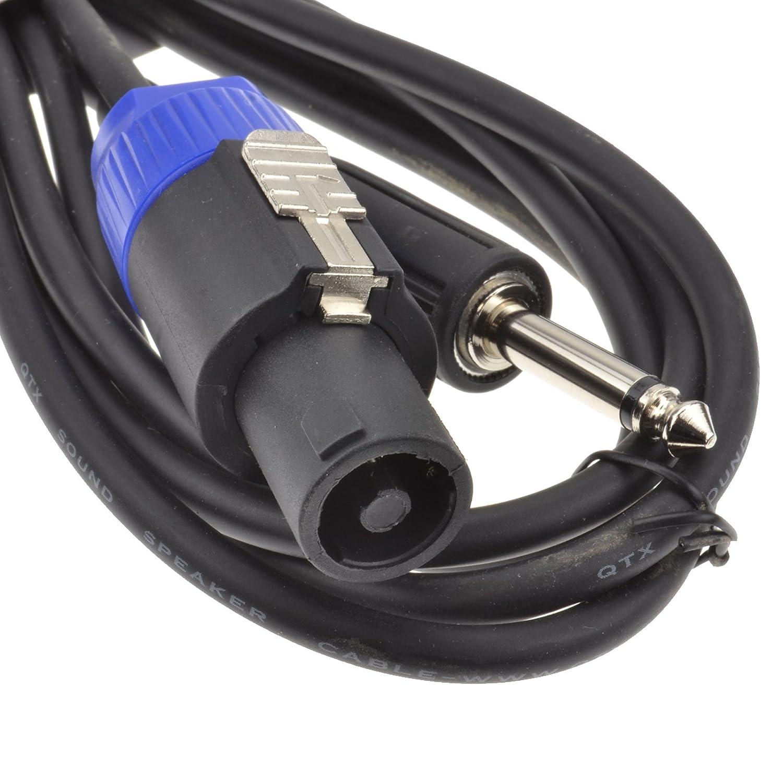 kenable PA Sistema Twist en Cerradero Altavoz Cable A 6,35 mm Mono Clavija Cable 3 m