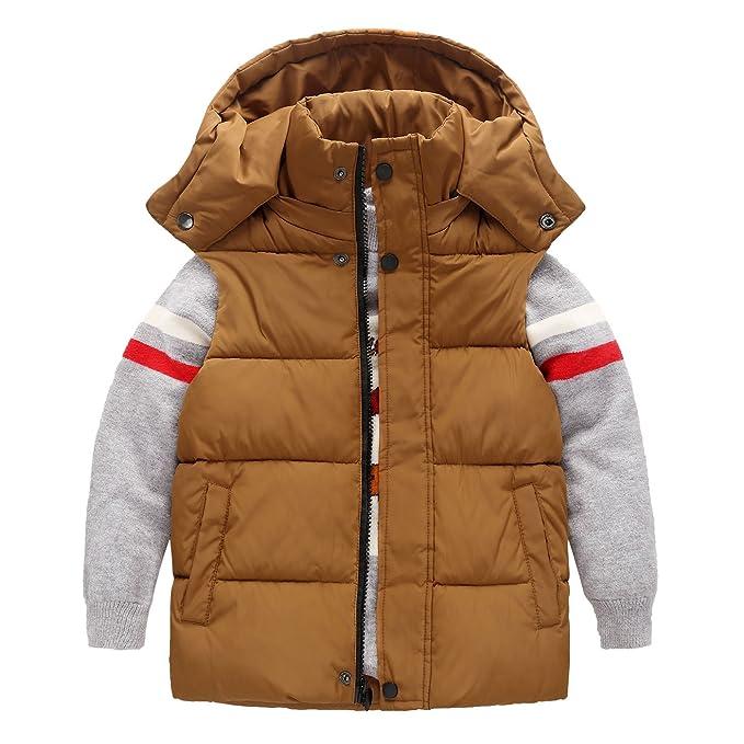 Happy Cherry Kinder Weste Verdickte Winterjacke /Ärmellos Winterweste Kleinkind M/äntel mit Kapuze Warm Outerwear Oberbekleidung
