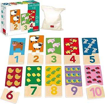 Goula Puzzle infantil para contar del 1 al 10 , color/modelo surtido: Amazon.es: Juguetes y juegos