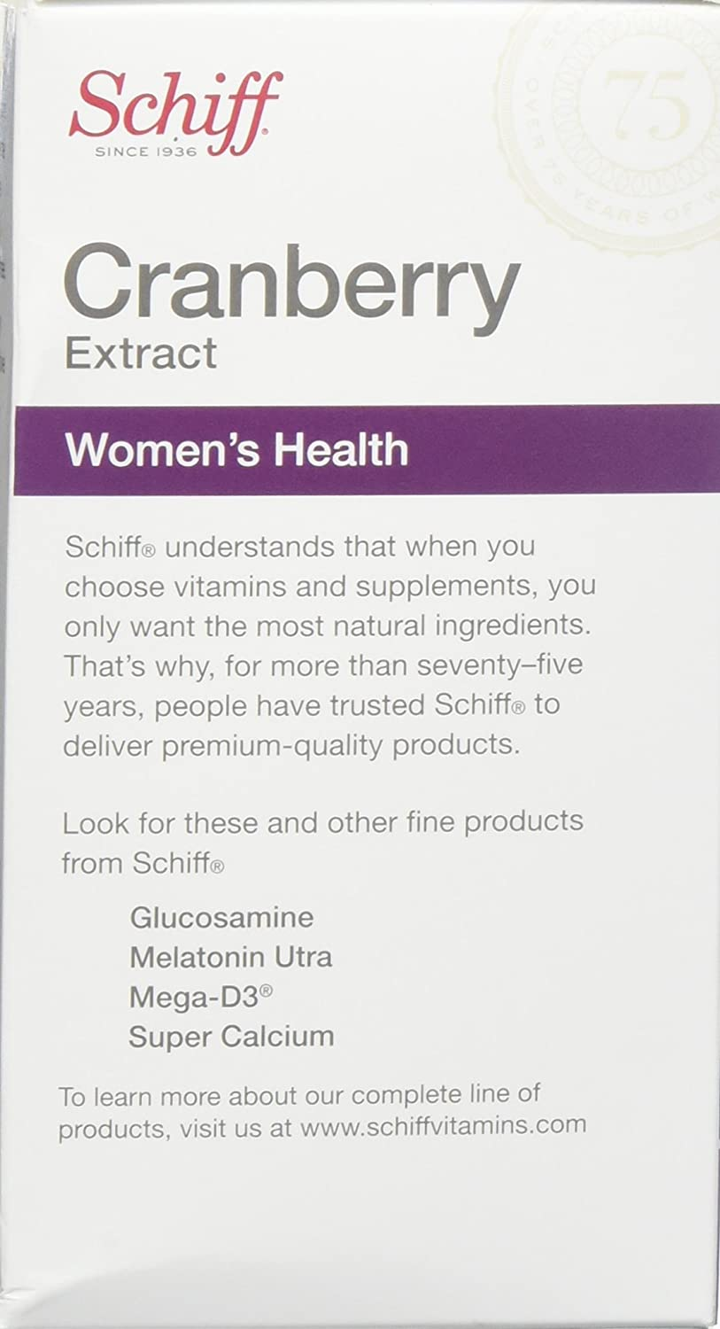 Schiff Cranberry Extract Dietary Supplement - Womens Health ...