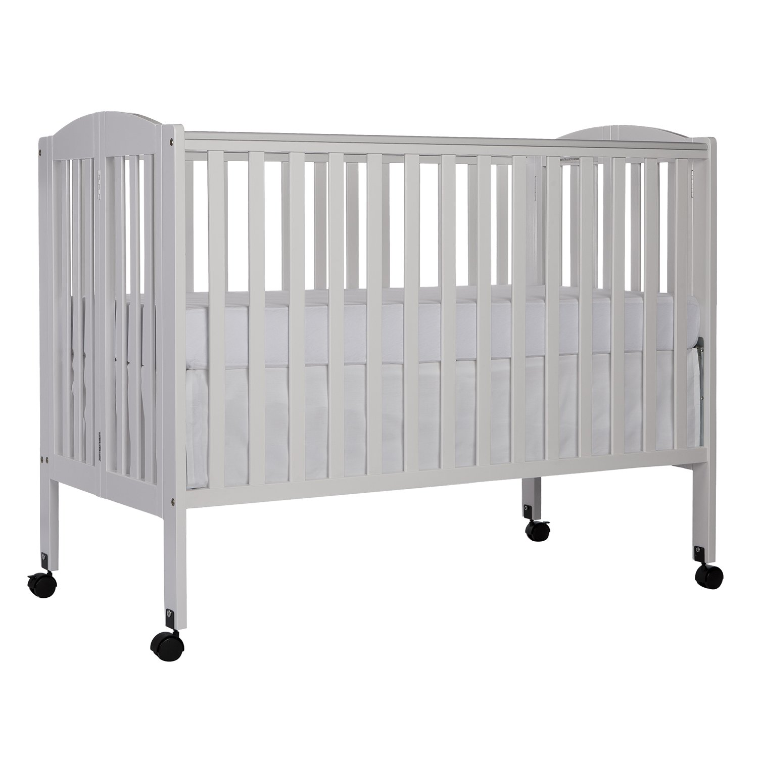 Dream On Me Full Size 2 in 1 Folding Stationary Side Crib, White by Dream On Me