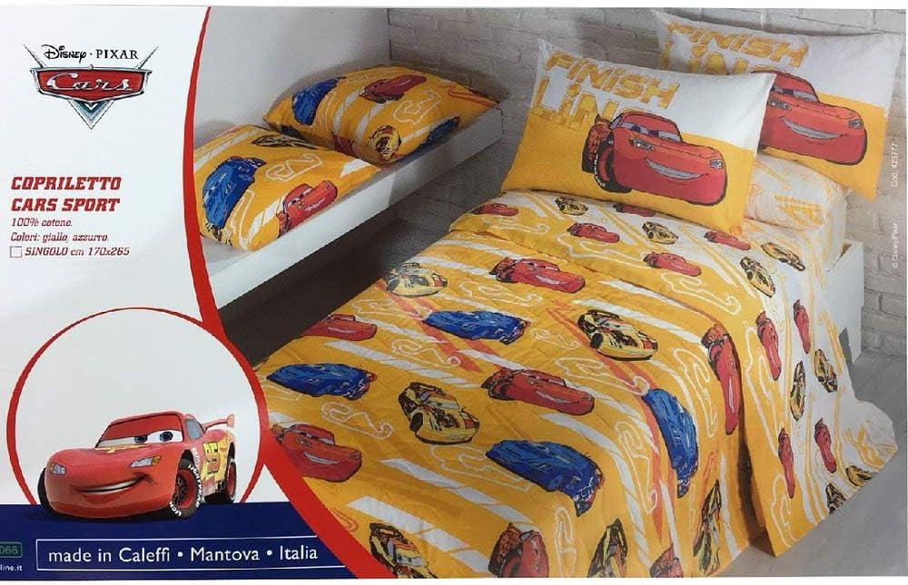 Biancheria Da Letto Nada Home Trapuntino Caleffi Disney Cars Sport Copriletto Trapuntato Letto Singolo Giallo Casa E Cucina Laaldeasanicolas Es