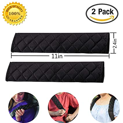Travel Cushion Seat Belt Covers Car Seat Belt Pad,2-Pack Soft Car Strap Shoulder Pad for Adults and Children Seat Belt Comfort Harness Pads