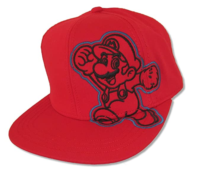 Amazon.com  Bioworld Super Mario Mario Side Image Red Snapback Cap ... 0254f376eba3