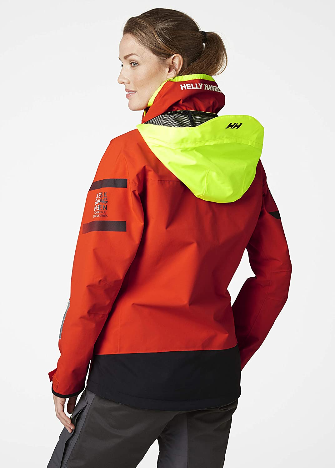 Quick Dry Helly Hansen Mens Skagen Offshore Sailing Yachting and Dinghy Coat Jacket Cherry Tomato