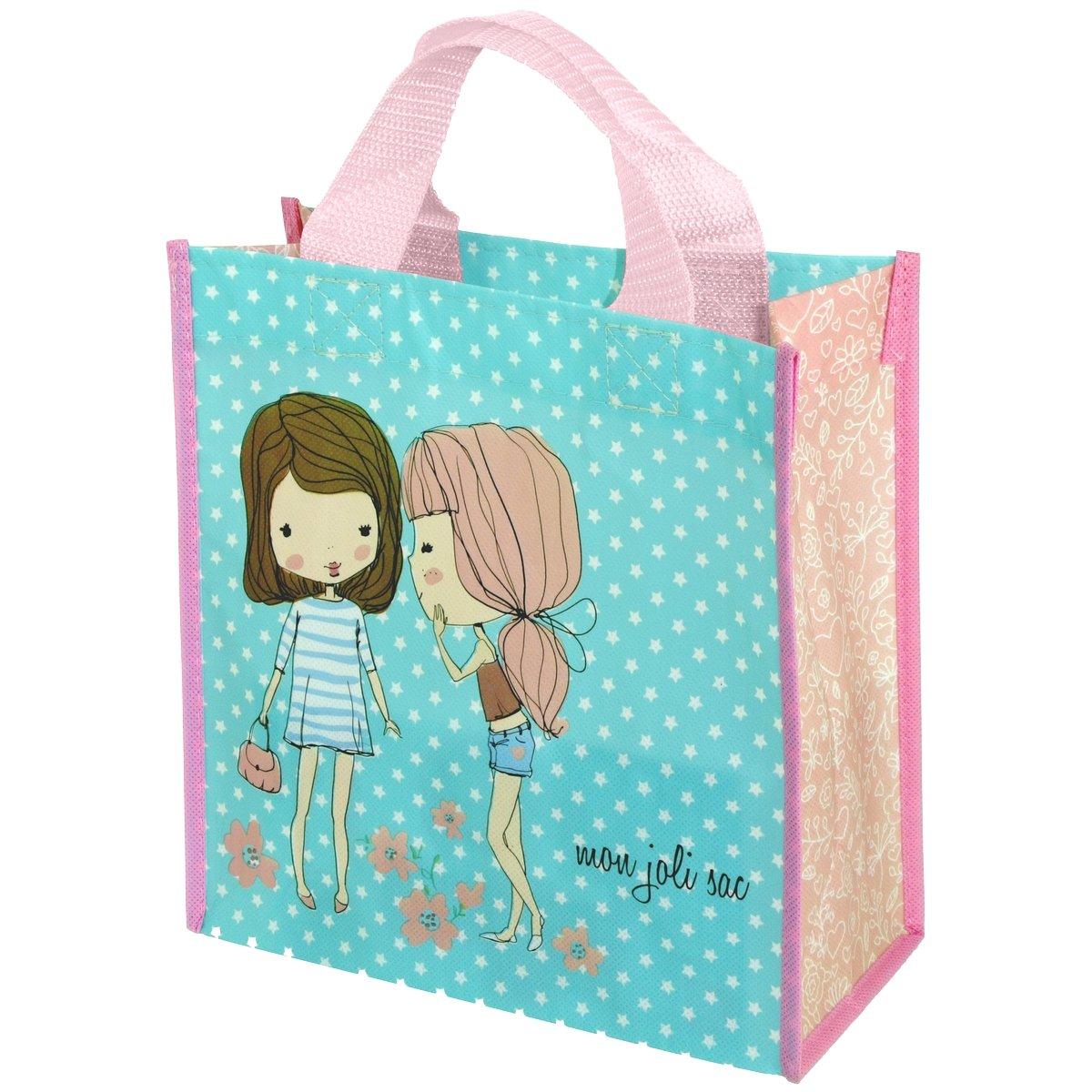 Promobo - Sac Pour Courses Cabas Shopping Girly Mon Joli Sac Bleu Etoilé cabasgirlyjolisac