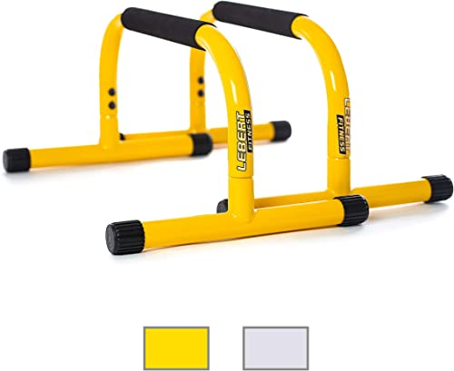 Lebert Fitness Parallettes Push Up Dip Stand Renewed
