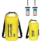 Luxtude Waterproof Dry Bag Backpack, 5L/10L/20L/30L Roll Top Portable Dry Sack Waterproof Bag with Phone Case, Floating Water