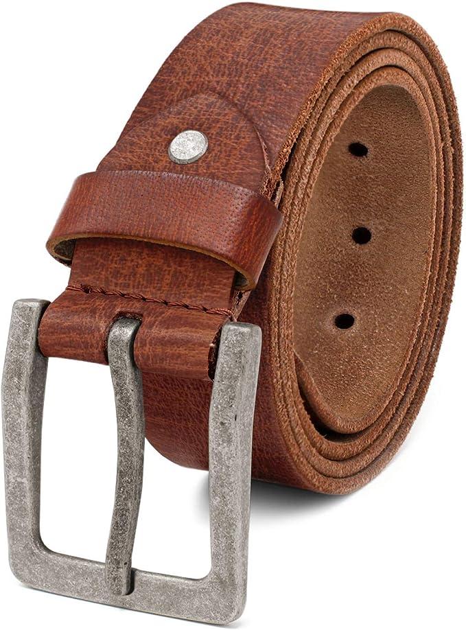 Bufalo in pelle Cintura da robusti VERA PELLE 4 cm di larghezza