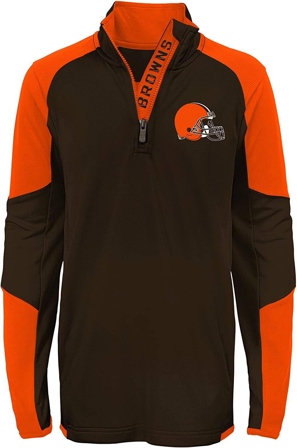 Outerstuff NFL Boys Youth Boys Beta 1//4 Zip Performance Top