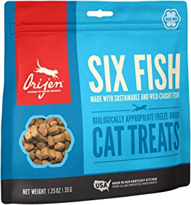 ORIJEN Freeze Dried Cat Treats, Grain Free, Natural and Raw Animal Ingredients