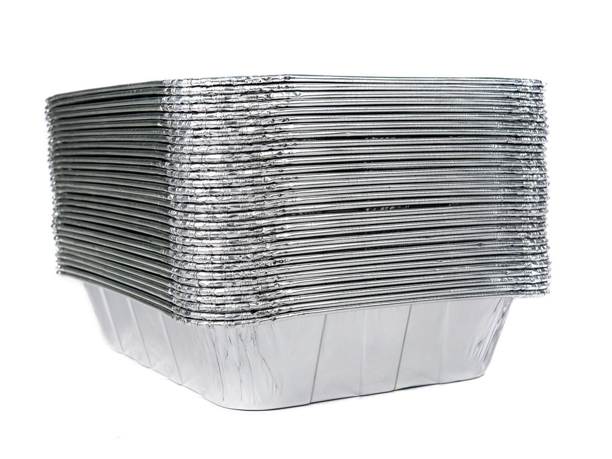 Aluminum Half Size Deep Foil Pan 10 packs 9 x 13 Safe for use in freezer, oven, and steam table.pen,10 pack