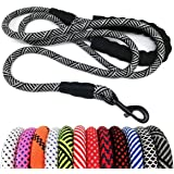"MayPaw Heavy Duty Rope Dog Leash 6Ft, 1/2"" Thick Nylon Pet Training Leash, Soft Padded Handle Lead Leash for Large…"