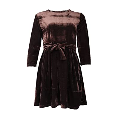 better-caress Dress Women Autumn Winter 2018 Velvet Three Quarter Sleeve Party Dress Sexy Solid