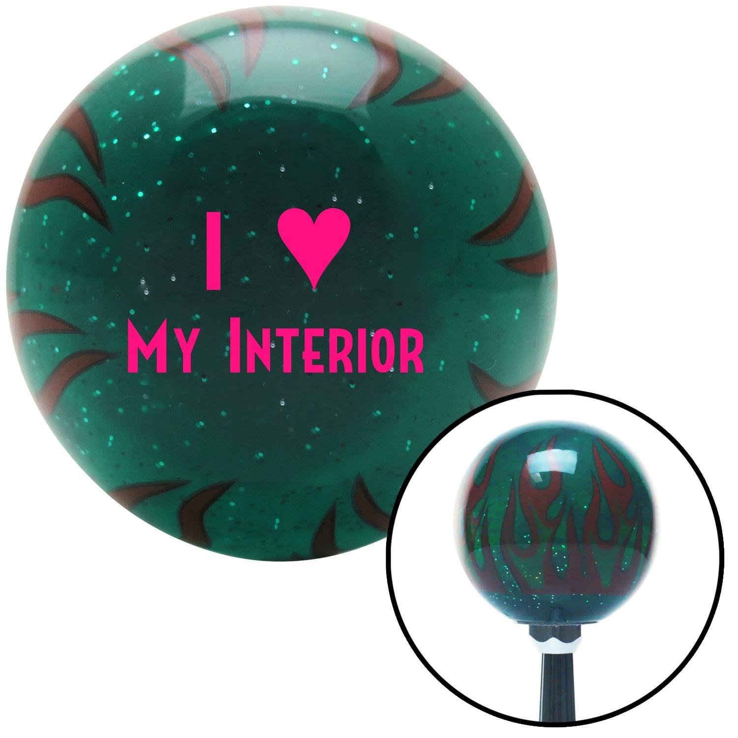 American Shifter 262204 Green Flame Metal Flake Shift Knob with M16 x 1.5 Insert Pink I 3 My Interior