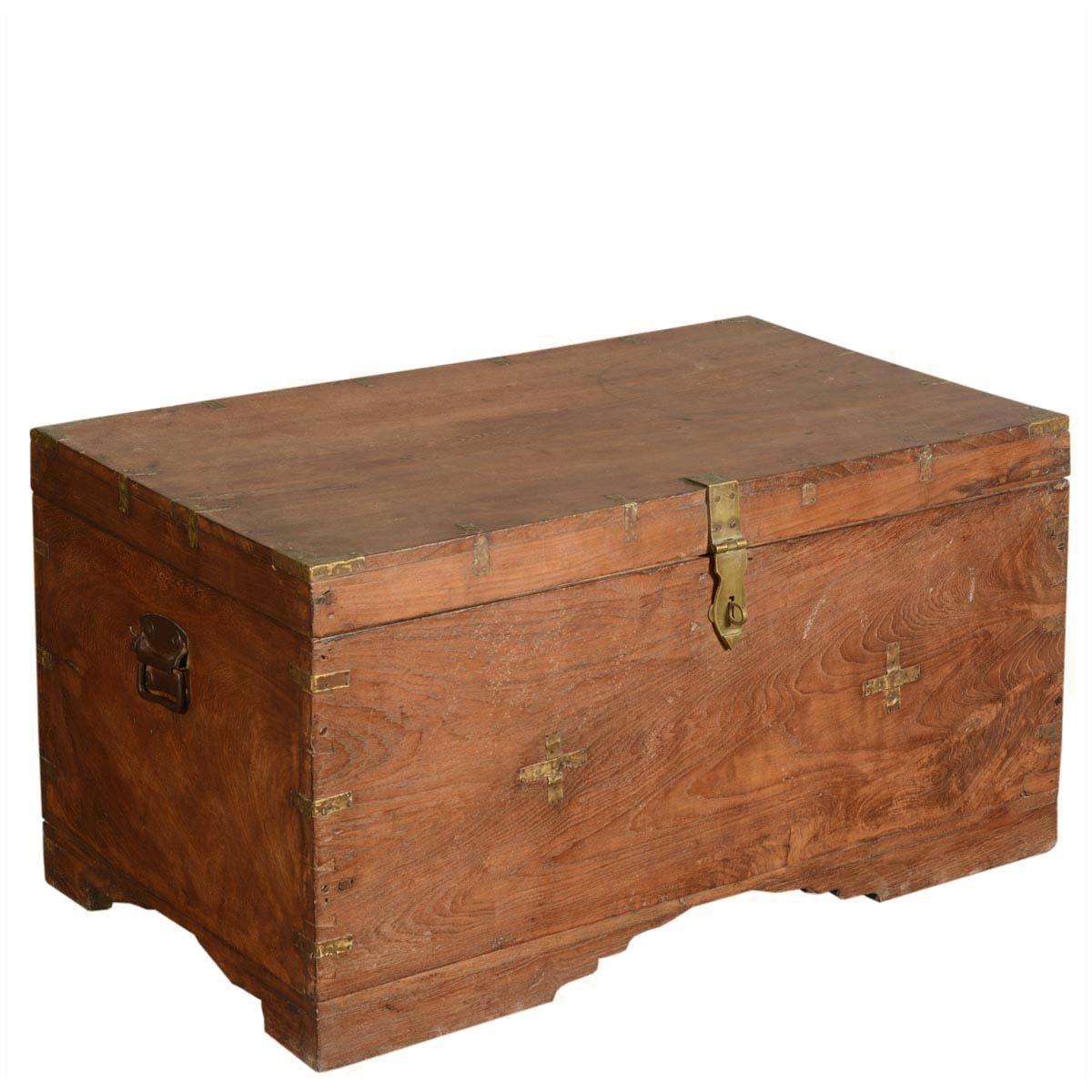 Amazon.com: Caja rústica de madera reciclada moderna hecha a ...