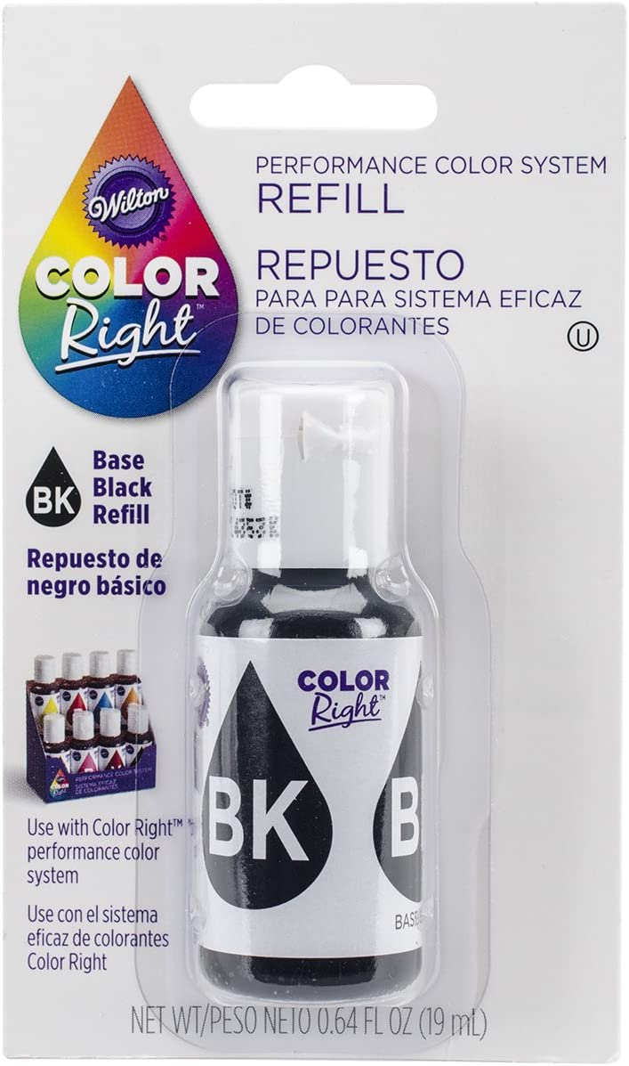 Wilton Right Food Color System Refill, .07 oz, Black