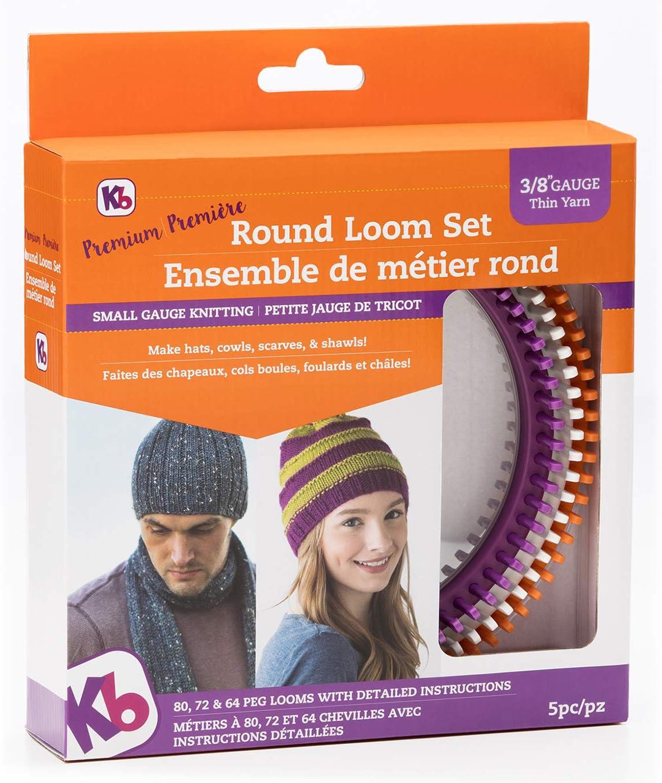 "Authentic Knitting Board 'Premium' Round Loom Set, 3/8"" Gauge"