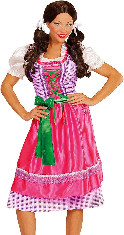 WIDMANN- Disfraz Tirolesa Vestido con Delantal, Color Rosa, XL ...