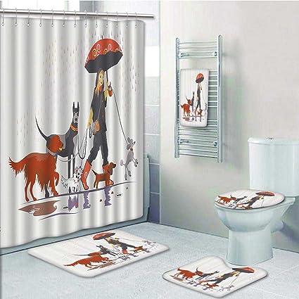 Amazoncom 5 Piece Bathroom Rug Set3 Piece Bath Rugs With Fabric