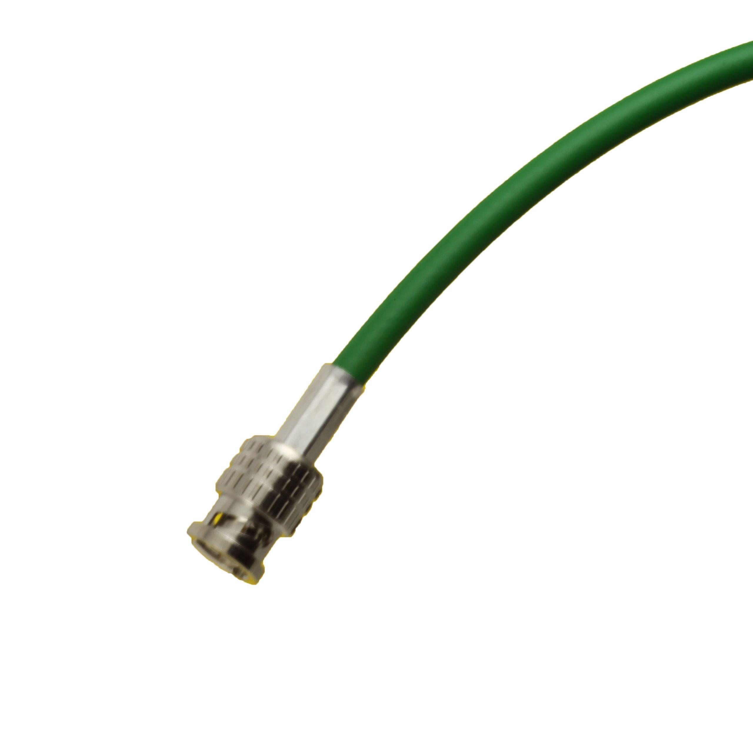 15 foot Green BJC High-flex 3G/6G HD SDI patch cable (Belden 1505F), BNC to BNC