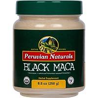 *黑玛卡 8.8 盎司(250 克)- 秘鲁天然   经认证的*黑玛根粉 来自秘鲁的*粉末 - 男士活力补充剂