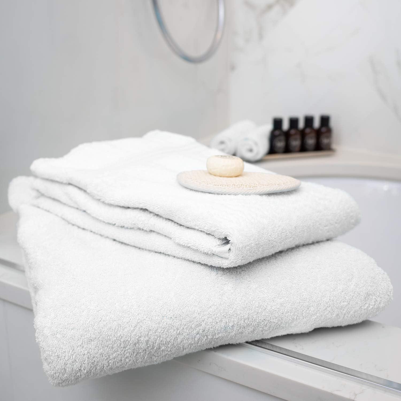 Restmor Knightsbridge Lot de 9 Serviettes 500g//m2 100/% Coton /égyptien Couleur Blanc