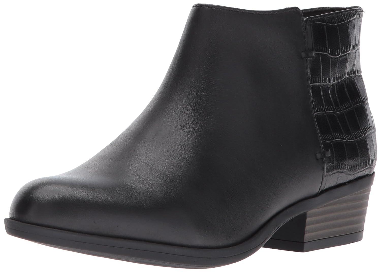 Black Leather Clarks Women's Addiy Zora Ankle Boot