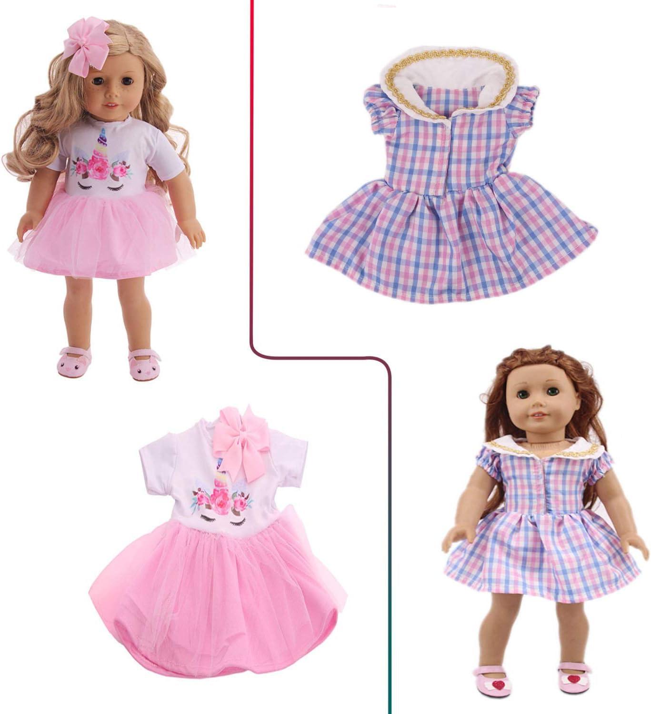 Hot Handmade 18 inch American Girl Doll Dress Cute Doll Christmas Costume #1