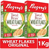 Bagrry's Total Bran Wheat Flakes 500Gm - Pack of 2