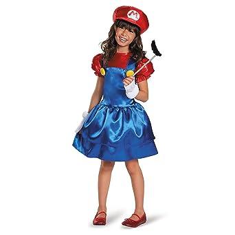 3f37e8ca54710d マリオ 子供 女の子用 ハロウィン コスチューム スーパーマリオブラザーズ コスプレ ゲーム S Size