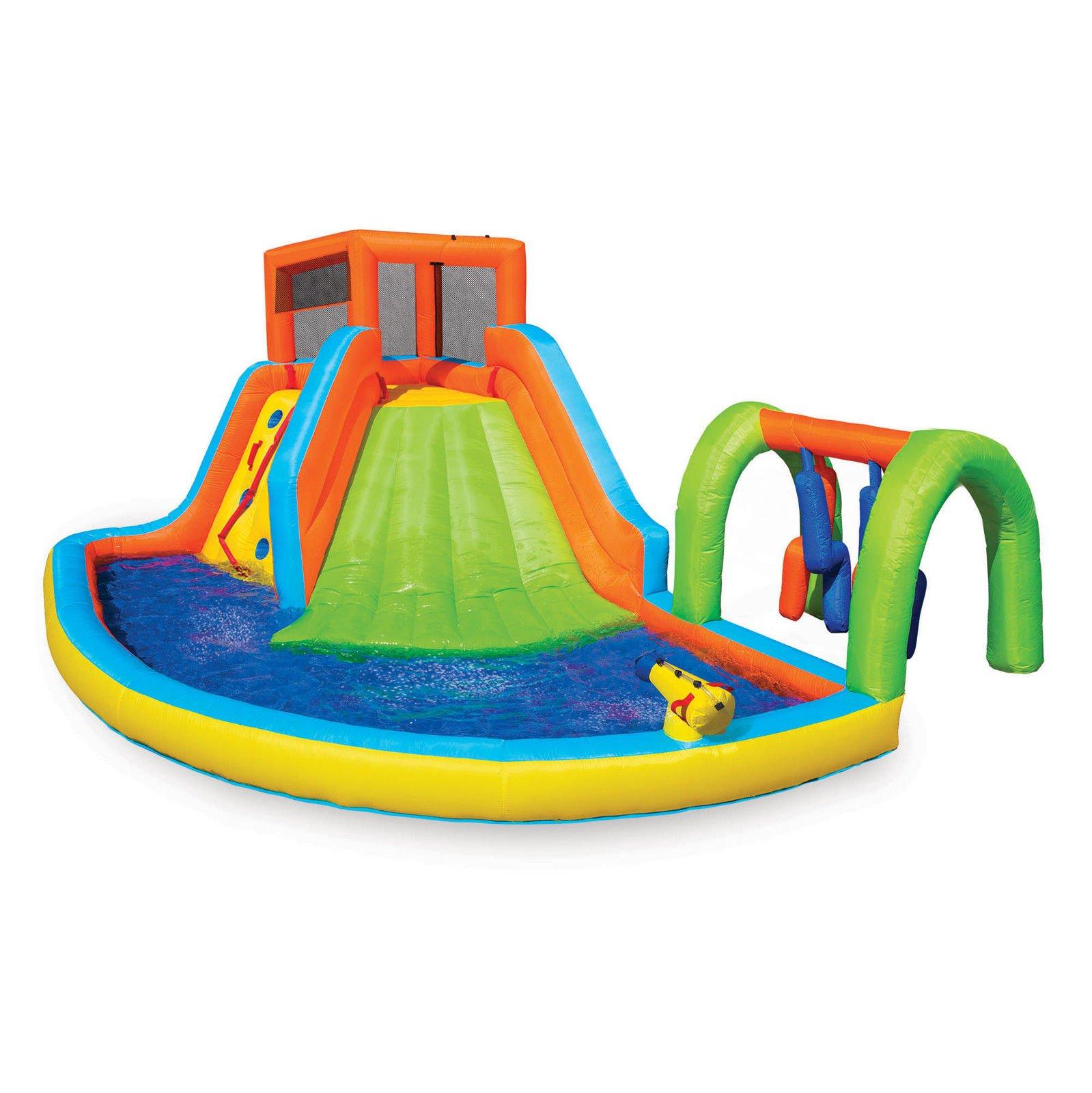 Inflatable Summit Splash Adventure Splash Kiddie Pool Slide Water Park With Ebook