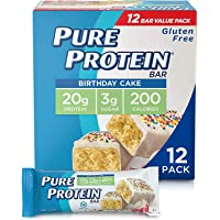 Deals on 12Pk Pure Protein Bars Nutritious Snacks Birthday Cake 1.76-Oz