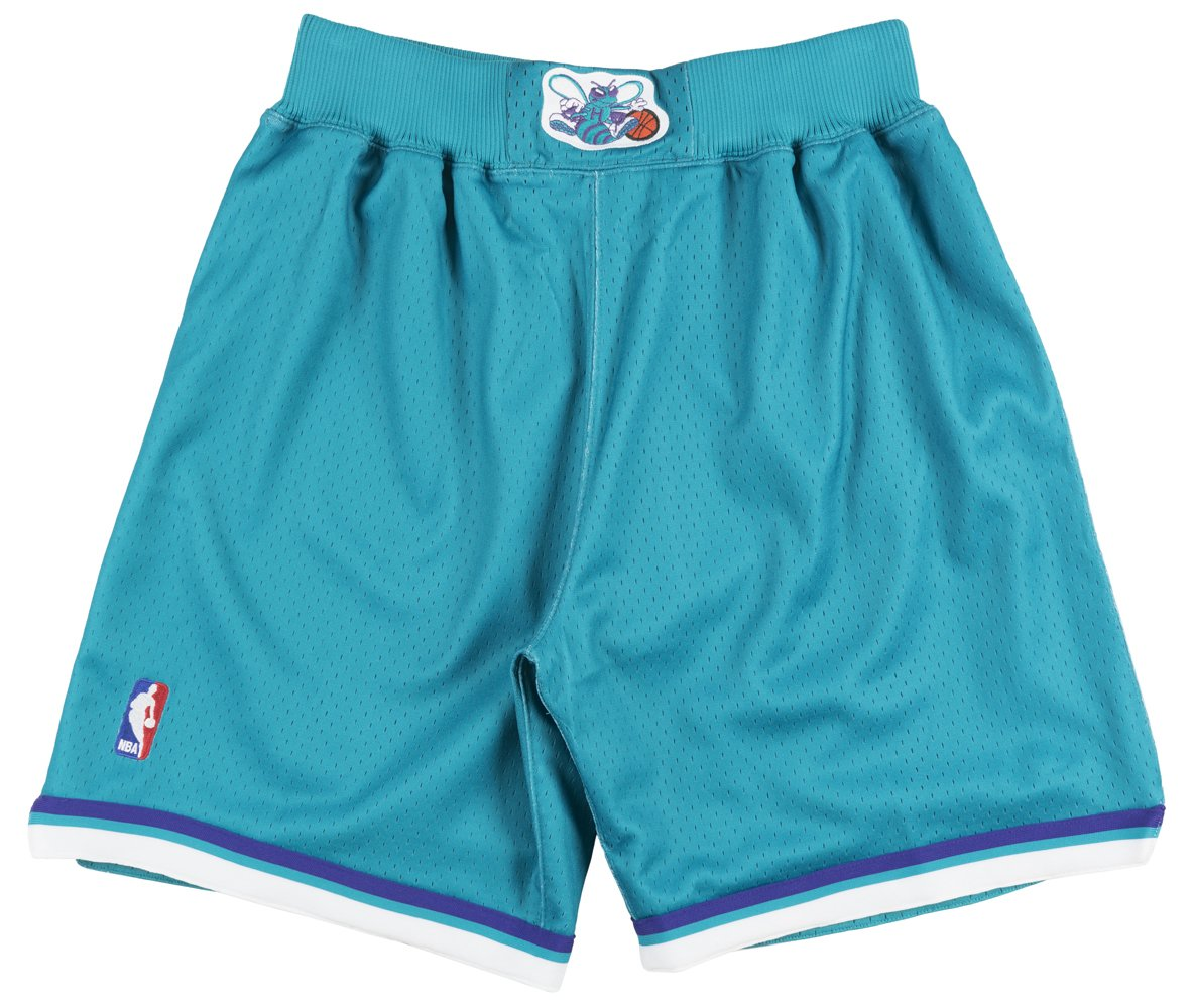 Mitchell and Ness Charlotte Hornets 92-93 Mens Shorts in Teal