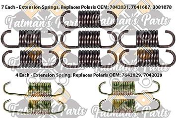 Polaris 440 XCR 600 RMK 500 XC Snowmobile Exhaust Spring Replacement Kit